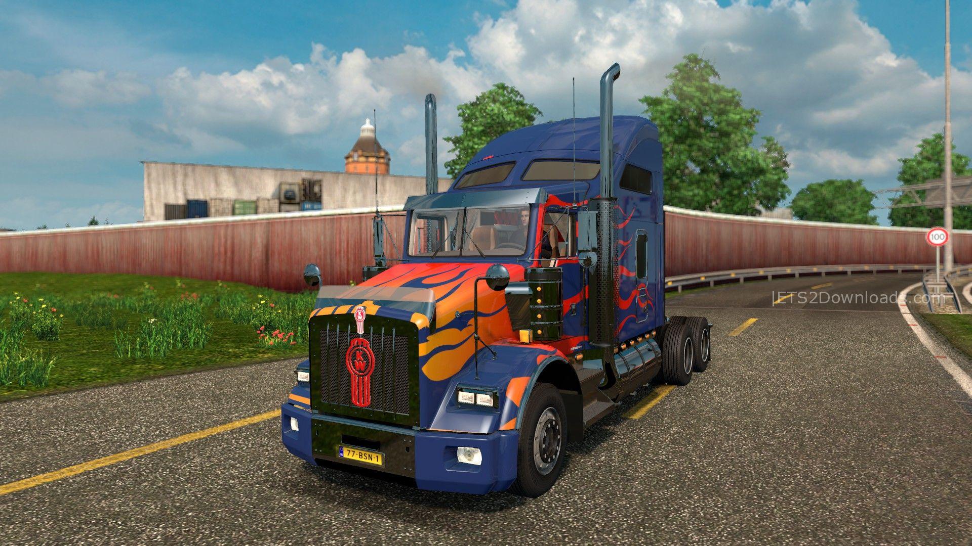 optimus-prime-skin-for-kenworth-t8000-1